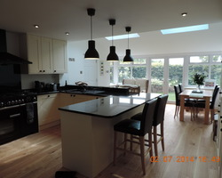 Kitchen extension to a detached house
